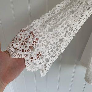 Anthropologie Tops - Anthropologie Eri + Ali Marigold Crochet Lace Top